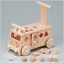 木製玩具 森のパズルバス
