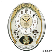 ディズニー セイコー掛け時計