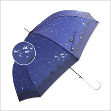【Disney】60cm ジャンプ傘 キャラクターアンブレラアリエル/アリス/チップ&デール/ピーターパン/レディ/ラプンツェル