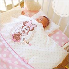 日本製洗えるベビー布団11点[ミニー]Disneyベビー布団セット[Minnie]